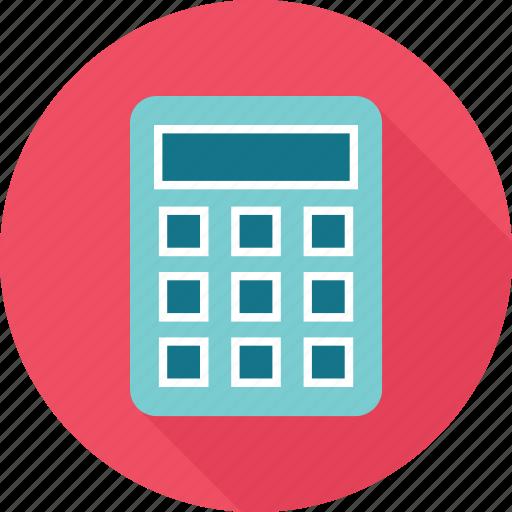 calculator, figures, math icon