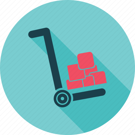 Box, cargo, cargo cart, cart, courier, deliver, package icon - Download on Iconfinder