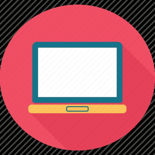 computer, device, laptop, laptop computer, pc icon