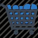 cart, empty trolly, shopping trolly, trolley