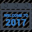 date, schedul, calendar, welcome, agenda icon
