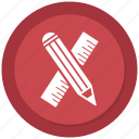 art, create, edit, illustration, pencil, productivity, ruler icon