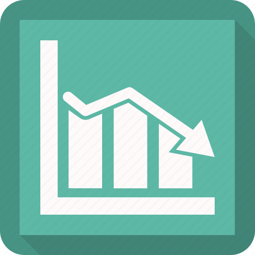 chart, down, graph, revenue growth icon