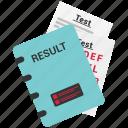 certificate, education, grade, report, result icon