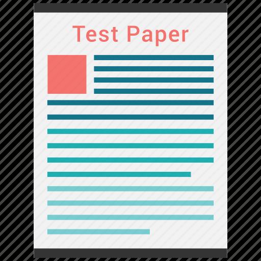 document, paper, split test, test icon