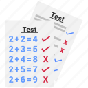 exam, survey, test icon