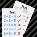 exam, survey, test icon