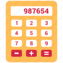 accounting, calculation, calculator, digital calculator icon