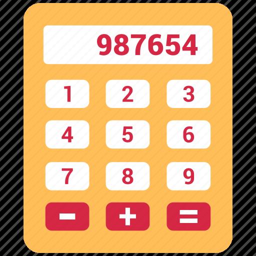 accounting, calculation, calculator, digital calculator icon
