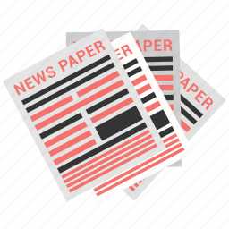 current, events, news, newspaper icon