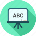 abc, blackboard, education icon