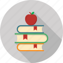 apple, book, knowledge, noterbook, school icon