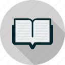 book, bookmark, education, learning, open, reading, study icon