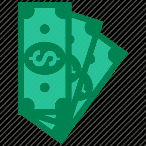 bills, business, cash, dollar, money, paper icon