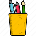 box, holder, pen, pencil, pot icon