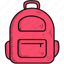 bag, school, student icon