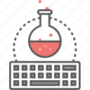 lab test, online lab, online science education, physical science, science experiment icon icon