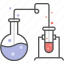 chemistry, experiment icon, flask, lab, laboratory, research, science, test tube icon