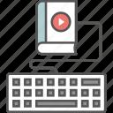 distance learning, ebook, elearning, modern education, online education, online learning icon icon