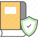 data security, digital library, ebook, online book, secure book icon icon