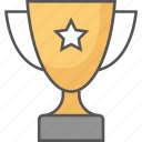 award, prize, trophy, trophy cup, winner icon icon