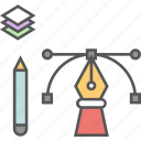 creativity, design tools, graphic designing, illustration, photoshop icon icon