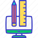 scale, pencil, measure, ruler