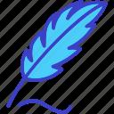 feather, bird feather, ink pen, pen