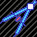 compass, angle, geometry, drawing
