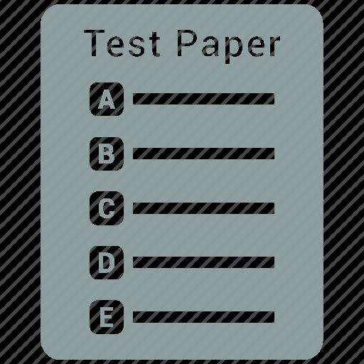 document, excellent, paper, test icon