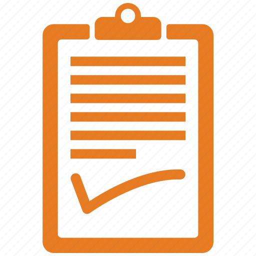 check, clipboard, file, notepad icon