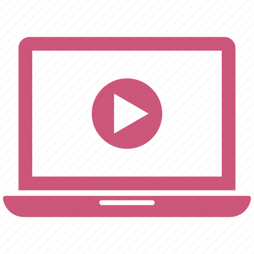 film, laptop, online video, video, video player icon