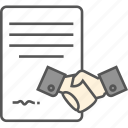 agreement, deal, partnership, partnership deed, shake hands icon icon