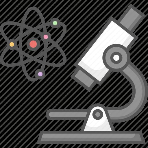 atom, career, chemical, microscope, profession, scientist icon icon