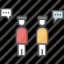 collaboration, communication, discussion, interaction, talk icon icon