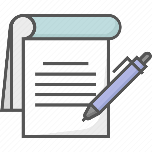 jotter, notebook, notepad, notes, writing pad icon icon
