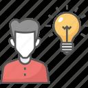 bulb idea, creative light, innovation, inspiration, smart idea icon icon