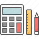 accounting, bookkeeping, calculator, financial studies, mathematics icon icon