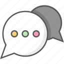 chat bubbles, chatting, communication, conversation, dialogue icon icon