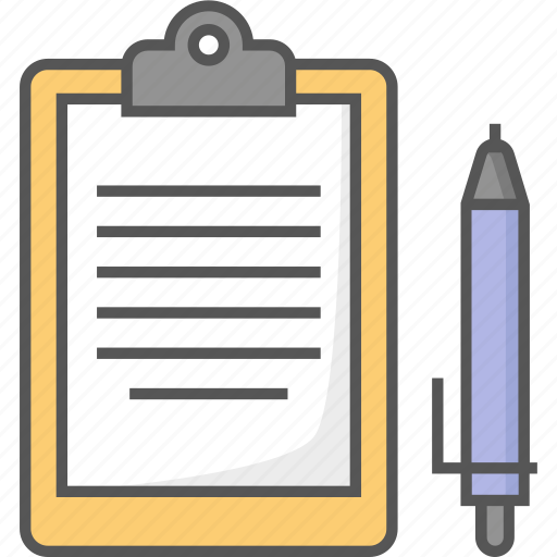 clipboard, file, list, notes, text document icon icon