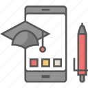 academic apps, digital education, education apps, education technology, modern education icon icon