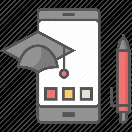 academic apps, digital education, education apps, education technology, modern education icon icon
