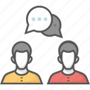 communication, consulting, discussion, speech, talk icon icon