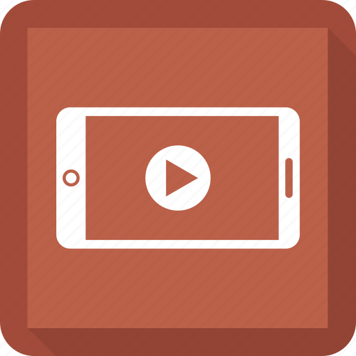 cell phone, mobile, mobile phone, mobile video, phone, play, video icon