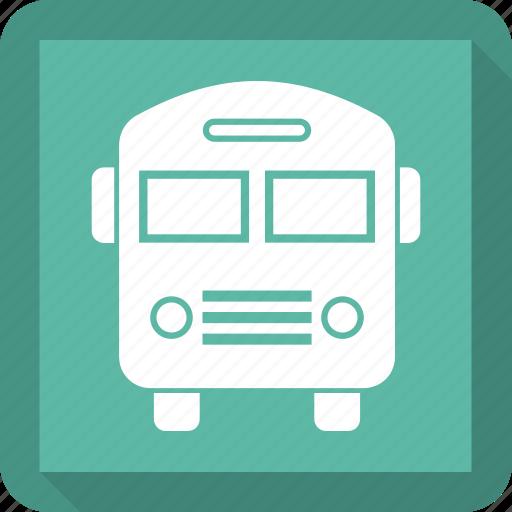 school bus, transportation, travel icon