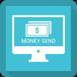card money, online money send, payment icon