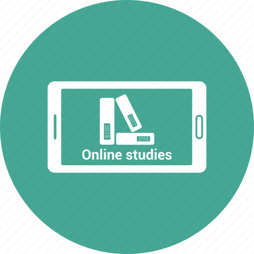 books, mobile, online, reading, study icon