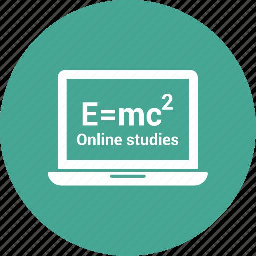 film, laptop, online study, online video, video player icon
