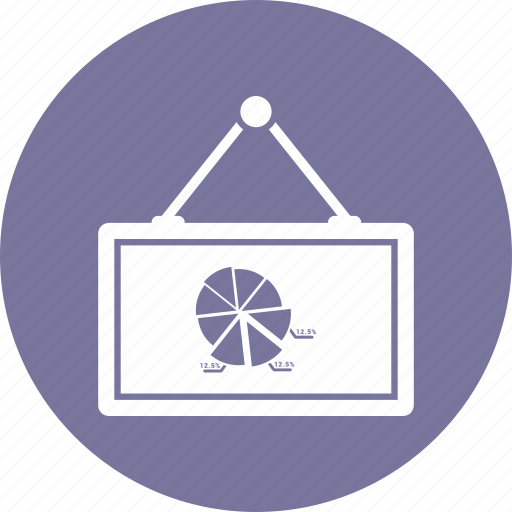 board, pie chart, presentation icon