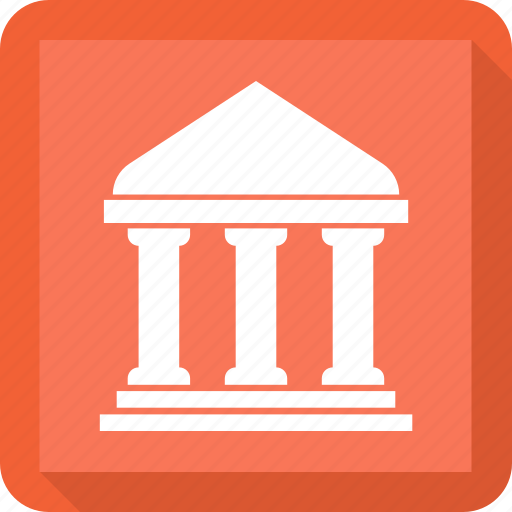 bank, bank building, banking, finance icon